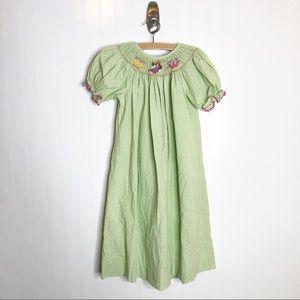 Castles & Crowns Green Smocked Bishop Dress 6
